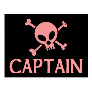 Capitaine Pink Skull Carte Postale