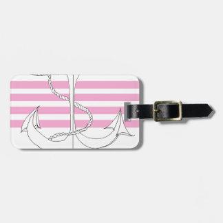 capitaine rose, fernandes élégants étiquette à bagage