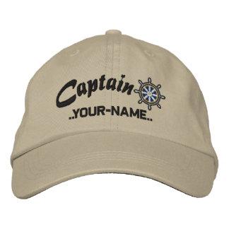 CAPITAINE roue personnalisable votre navire nommé Chapeau Brodé