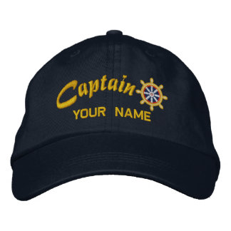 CAPITAINE roue personnalisable votre navire nommé Casquette Brodée
