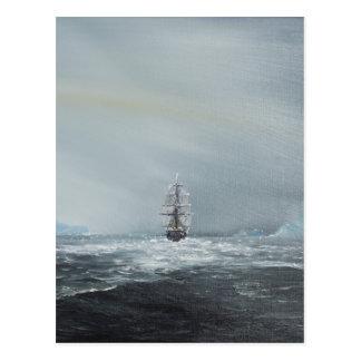Capitaine Scott et équipage de découverte Carte Postale