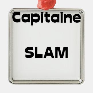 Capitaine SLAM - Jeux de Mots - Francois Ville Ornement Carré Argenté