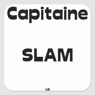 Capitaine SLAM - Jeux de Mots - Francois Ville Sticker Carré