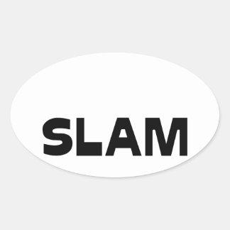 Capitaine SLAM - Jeux de Mots - Francois Ville Sticker Ovale