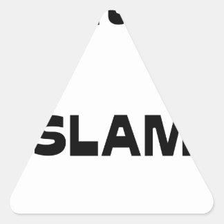Capitaine SLAM - Jeux de Mots - Francois Ville Sticker Triangulaire