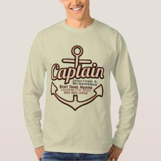 Capitaine totalement personnalisé Anchor Nautical T-shirts