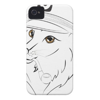 Capitaine Wolf Illustration Coques Case-Mate iPhone 4