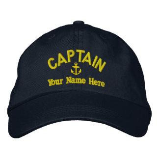 Capitaines de voilier de navigation casquette brodée