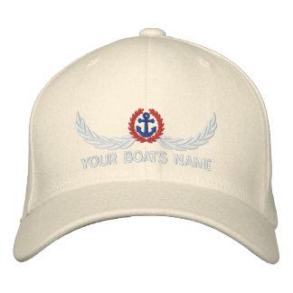 Capitaines nommés personnalisés de navigation de chapeau brodé