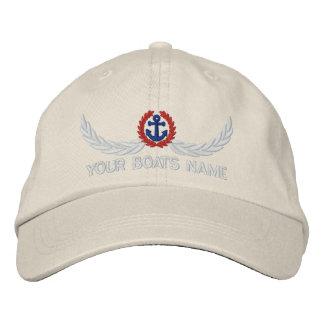 Capitaines nommés personnalisés de navigation de casquette brodée