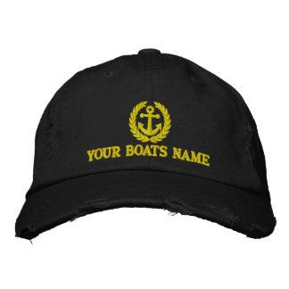 Capitaines personnalisés de bateau à voile casquette de baseball brodée