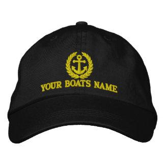 Capitaines personnalisés de bateau à voile casquette brodée