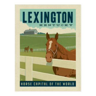 Capital de cheval de Lexington, KY | du monde Carte Postale