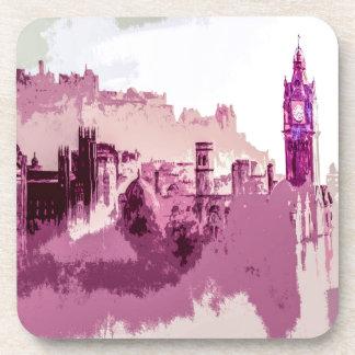 Capitale de peinture abstraite d'Edimbourg de Dessous-de-verre