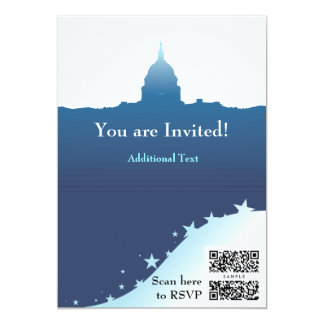 Capitale politique des USA de modèle d'invitation Carton D'invitation 12,7 Cm X 17,78 Cm