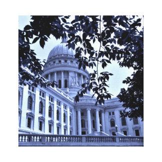 Capitol bleu toile