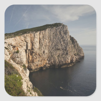 Capo Caccia, Alghero, Sardaigne, Italie Autocollant Carré