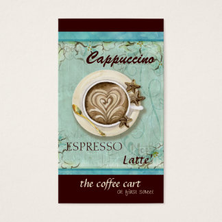 Cappuccino de café-restaurant, cartes du café
