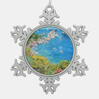 Capri - ornement de flocon de neige d'étain