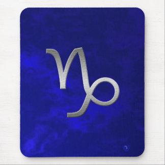 Capricorne argenté - bleu tapis de souris