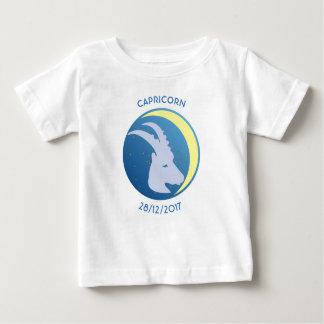 Capricorne de T-shirt de bébé de signe d'étoile