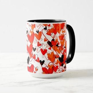 Capture dramatique de rouge et d'oeil au beurre mug