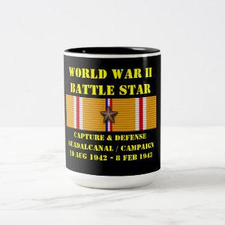 Capture et défense de campagne de Guadalcanal Mug Bicolore