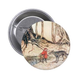 Capuchon rouge badge rond 5 cm