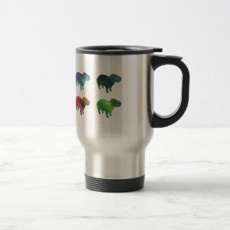 Capybaras de l'espace mug de voyage