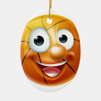 Caractère de boule de basket-ball de bande ornement ovale en céramique