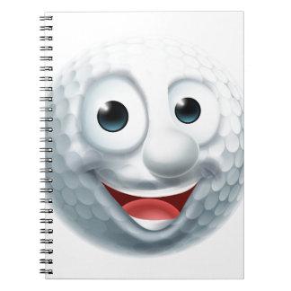 Caractère de boule de golf de bande dessinée carnet