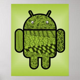 Caractère de griffonnage de Paisley pour Android™ Affiche