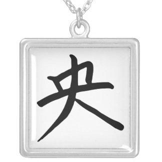 Caractère de kanji pour centré pendentif carré