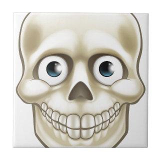Caractère de squelette de crâne de Halloween de Petit Carreau Carré