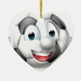 Caractère d'homme de ballon de football de bande ornement cœur en céramique