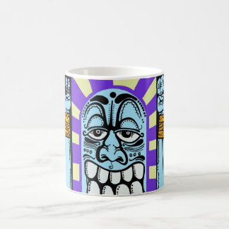 caractère drôle bleu de graffiti d'art de rue heur mug