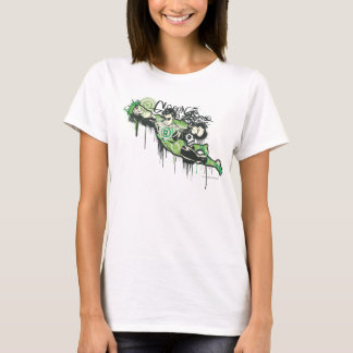 Caractère vert de graffiti de lanterne t-shirt