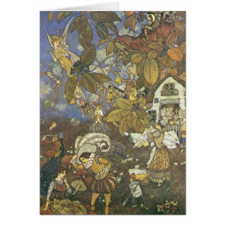 Caractères classiques vintages de livre de contes, carte de vœux