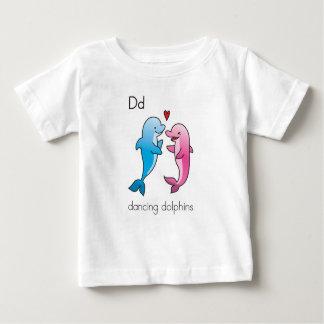 Caractères de jonglerie d'acoustique : dauphins de t-shirt pour bébé