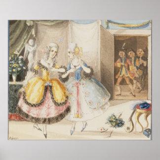 """Caractères """"de tutte de fan de Cosi"""" par Mozart, 1 Affiche"""