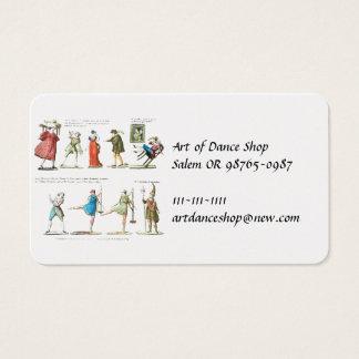 Caractères français de ballet vintages cartes de visite
