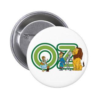 Caractères vintages de magicien d'Oz et lettres Badge Rond 5 Cm