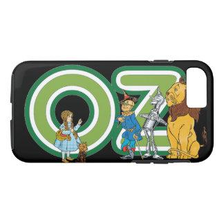 Caractères vintages de magicien d'Oz et lettres Coque iPhone 7