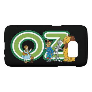 Caractères vintages de magicien d'Oz et lettres Coque Samsung Galaxy S7