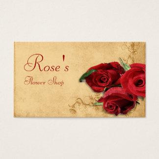 Caramel vintage Brown et fleuriste rose Cartes De Visite