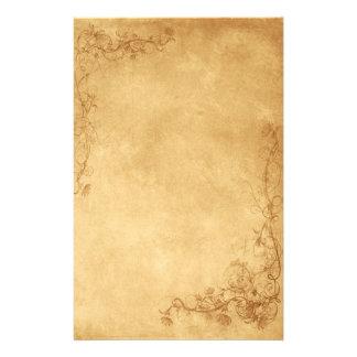 Caramel vintage Brown Motifs Pour Papier À Lettre
