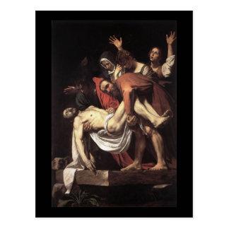 Caravaggio la mise au tombeau carte postale