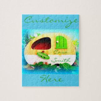 caravane minuscule de gitan de maison puzzle