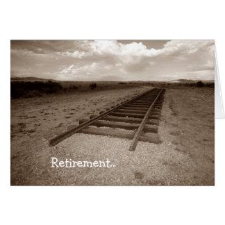Cardez l'extrémité d'amusement de chemin de fer de carte de vœux