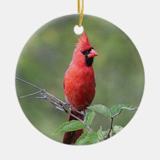 Cardinal du nord ornement rond en céramique